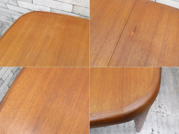 ジャパンビンテージ Japan vintage 伸長式 ダイニングテーブル チーク材 ビンテージ 北欧スタイル ●
