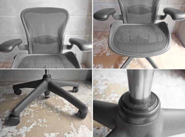 ハーマンミラー Herman Miller アーロンチェア Aeron Chair スタンダード Bサイズ ランバーサポート ♪