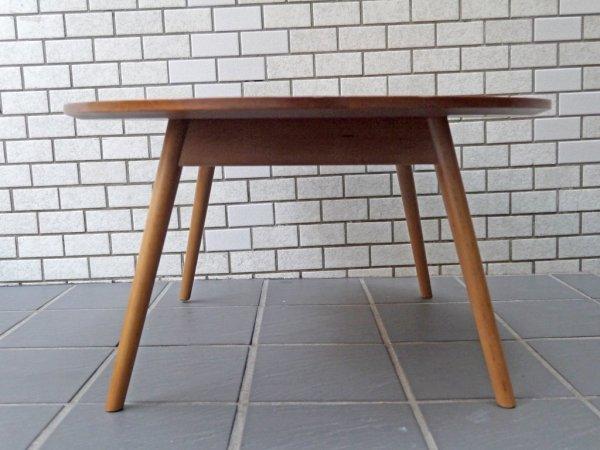 フランフラン Francfranc トーイ ラウンド コーヒーテーブル ウォールナット 北欧スタイル ■