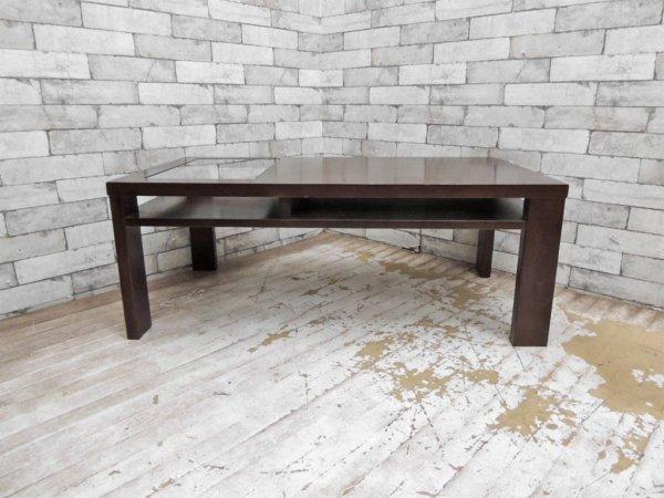 エーフラット a.flat 木製 ガラス ローテーブル センターテーブル ●