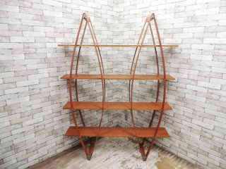 アスプルンド ASPLUND モンド MONDO ブックラック オープンシェルフ 飾り棚 マルチェロ・ジリアーニ イタリア製 定価14万 ●