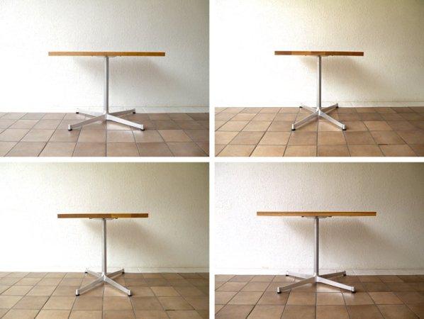 グリニッチ greeniche カフェテーブル W80×D60 オーク無垢トップ & Xレッグ 定価¥50,760- 状態良好 ダイニングテーブル ナチュラル リビングテーブル 現行 ◇