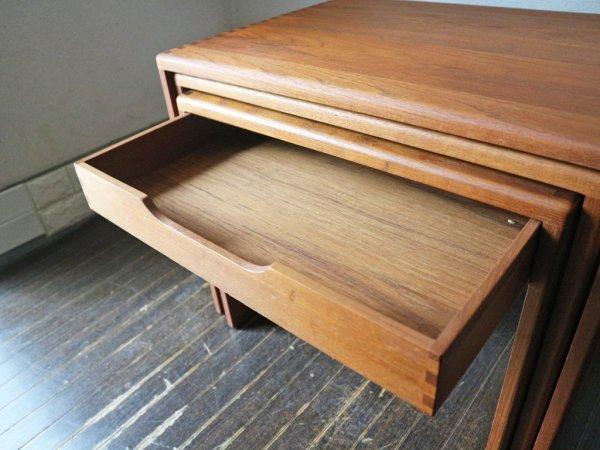 salin 5800 nyborg チーク材 ネストテーブル 北欧 ビンテージ 1960's デンマーク ミッドセンチュリー ◎