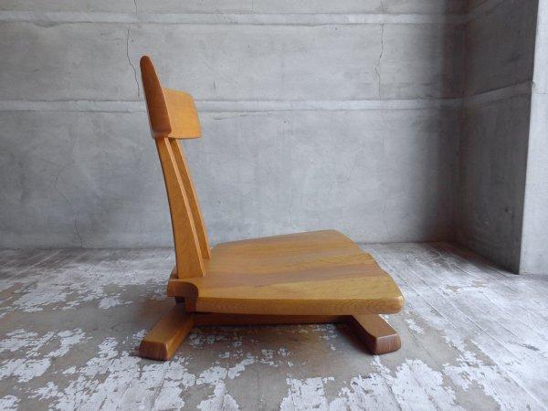 飛騨産業 HIDA キツツキ 円空 座椅子 ナラ無垢材 佐々木敏光 ♪