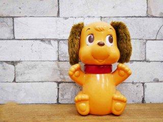 野村トーイ CBS TOYS 昭和レトロ 犬のソフビ人形 首可動式 フィギュア ●