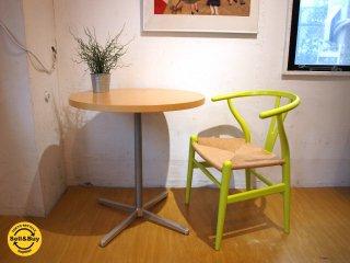 イデーIDEE カフェテーブル メープル材天板×クロームレッグ 組み合わせセミオーダータイプ 廃番品 サイドテーブル ★