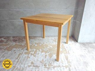 無印良品 MUJI オーク 無垢材 ダイニングテーブル 正方形 幅80cm 2人掛け♪