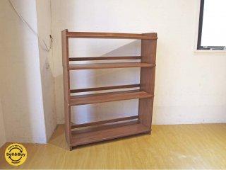 ジャパンビンテージ 木味のスタッキングシェルフ 3段 ブックシェルフ 本棚 飾り棚 ★