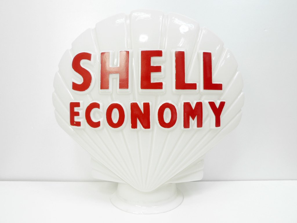 シェルエコノミー SHELL ECONOMY シェル型 シェードのみ 1960'sビンテージ ガレージ雑貨 ●