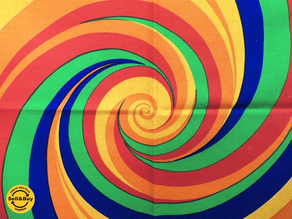 Strömma Sweden ハリケーン Hurricane ビンテージ ファブリック Curry Melin 125×126cm ミッドセンチュリー ●