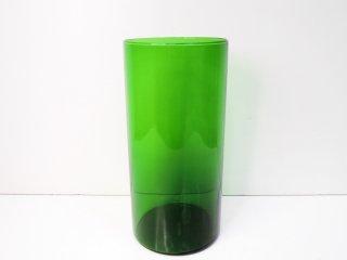 アラビア ARABIA #3417 フラワーベース ガラス グリーン カイ・フランク Kaj Franck ●