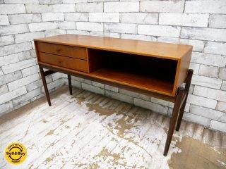 デンマーク ビンテージ Danish vintage ミニチェスト チーク材 白半木材取扱い 北欧家具 ●
