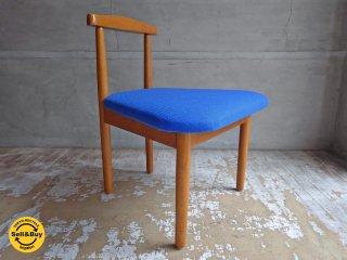 モノ・モノ 親子の椅子 小 ブルー ローチェア ダイニングベンチ ファブリックシート 秋岡芳夫 ♪