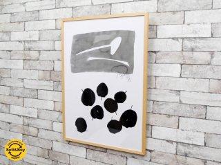 サトウアサミ Sato Asami eat アートポスター アートフレーム 額装品 シリアルナンバー入り IDEE取扱い インテリア 定価55,000円 ●