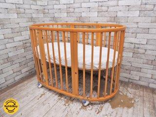 ストッケ STOKKE スリーピー SLEEPI ベビーベッド 楕円形 ブナ材 ナチュラル 対象月令3歳 ●