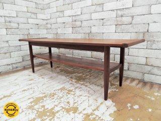 北欧ビンテージ Scandinavian vintage チーク材 センターテーブル コーヒーテーブル ●