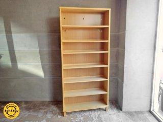 無印良品 MUJI 組み合わせて使える木製収納 本棚 シェルフ ミドルタイプ 奥行21cm B♪