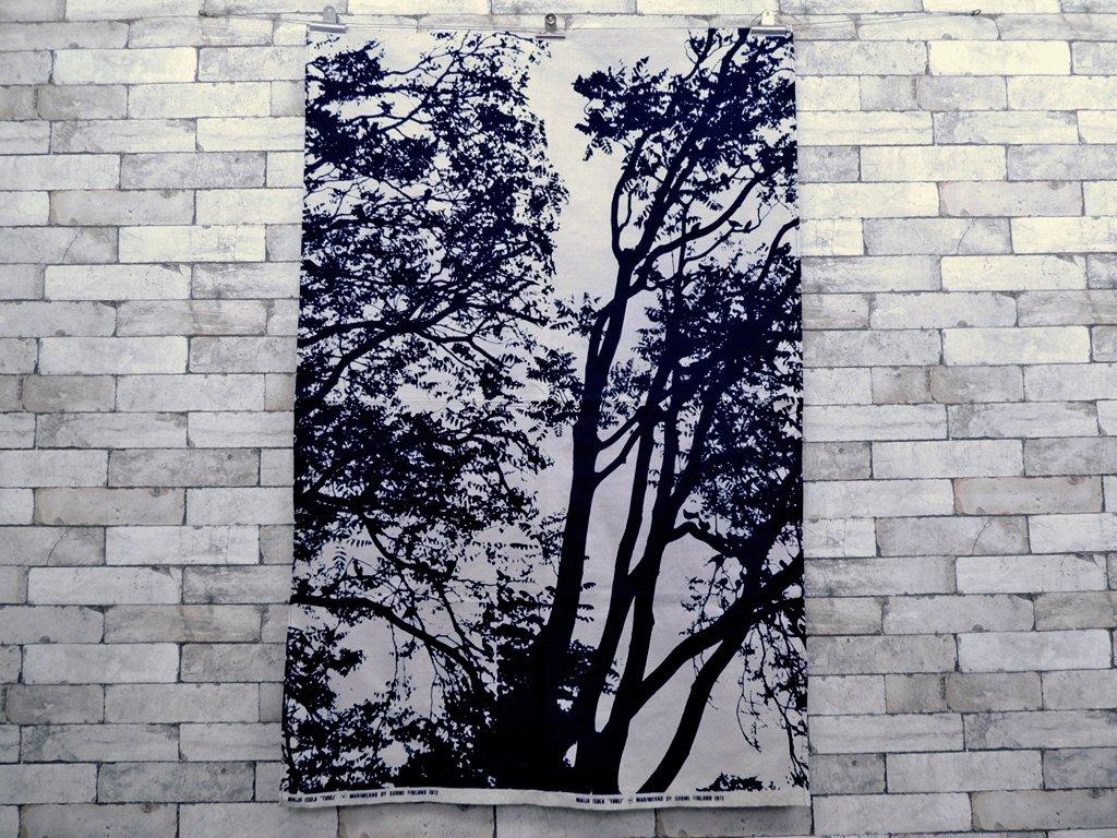 マリメッコ marimekko トゥーリ TUULI 88×136 ビンテージ ファブリック 生地 マイヤ・イソラ 北欧雑貨 ●