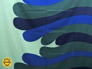 マリメッコ marimekko アルバトロッシ ALBATROSSI 142×210 ビンテージ ファブリック 生地 マイヤ・イソラ 北欧雑貨 ●