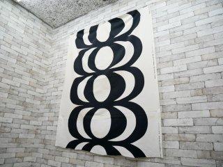 マリメッコ marimekko カイヴォ KAIVO 145×180 ビンテージ ファブリック 生地 白黒 マイヤ・イソラ 北欧雑貨 ●