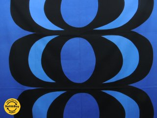 マリメッコ marimekko カイヴォ KAIVO 147×174 ビンテージ ファブリック 生地 ブルー マイヤ・イソラ 北欧雑貨 ●