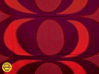マリメッコ marimekko カイヴォ KAIVO 144×162cm ビンテージ ファブリック 生地 レッド マイヤ・イソラ 北欧 ●