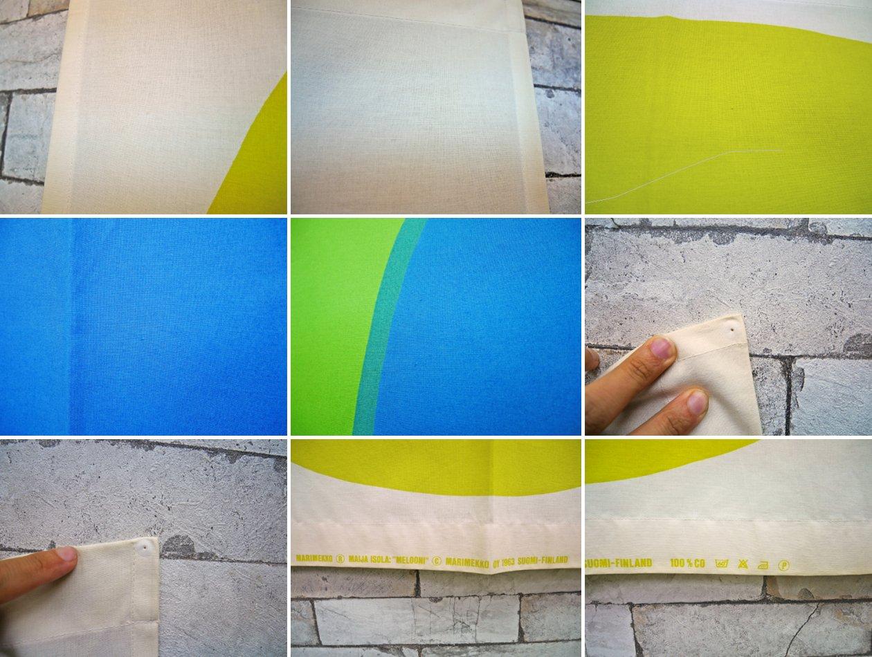 マリメッコ marimekko メローニ MELOONI 89×136 ビンテージ ファブリック 生地 マイヤ・イソラ 北欧雑貨 ●
