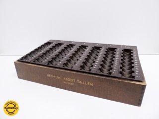 Heimdal Mønt-taeller ビンテージ コインカウンター コインター 木製トレイ付き デンマーク 北欧雑貨 什器 ●
