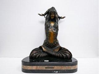デメートル・シパリュス d.h.chiparus ブロンズ像 女性像 シヴァ Shiva ●