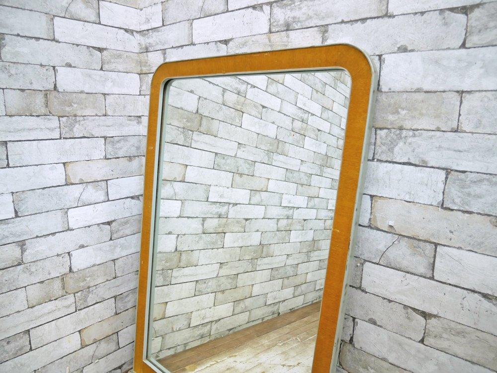 フランスアンティーク ウォールミラー 鏡 ウッドフレーム ●
