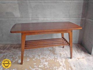 カリモク60 karimoku リビングテーブル S ウォールナットフレーム × ムテニエ突板 カフェスタイル ♪