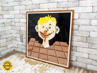 レイモン・サヴィニャック Raymond Savignac チョコレート Chocolat Tobler ポスター 額装品 ●