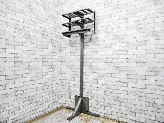 gingher scranton ハンガースタンド コートラック スチール USビンテージ インダストリアルデザイン 店舗什器 ●