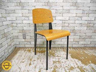 ヴィトラ Vitra スタンダードチェア Standard chair オーク材 ナチュラル ジャン・プルーヴェ ●