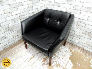 北欧ビンテージ scandinavian vintage 1人掛け ソファ ローズウッド PVCレザー ●