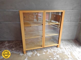 無印良品 MUJI 組み合わせて使える木製収納 ガラス扉付 ブックシェルフ マガジンラック 本棚 飾り棚 ♪