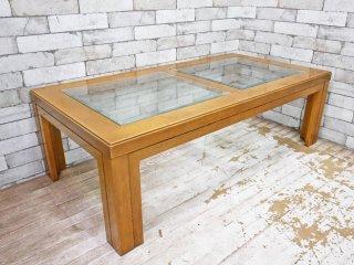 カリモク karimoku ドマーニ domani モーガントン Morganton ガラス ローテーブル センターテーブル ●