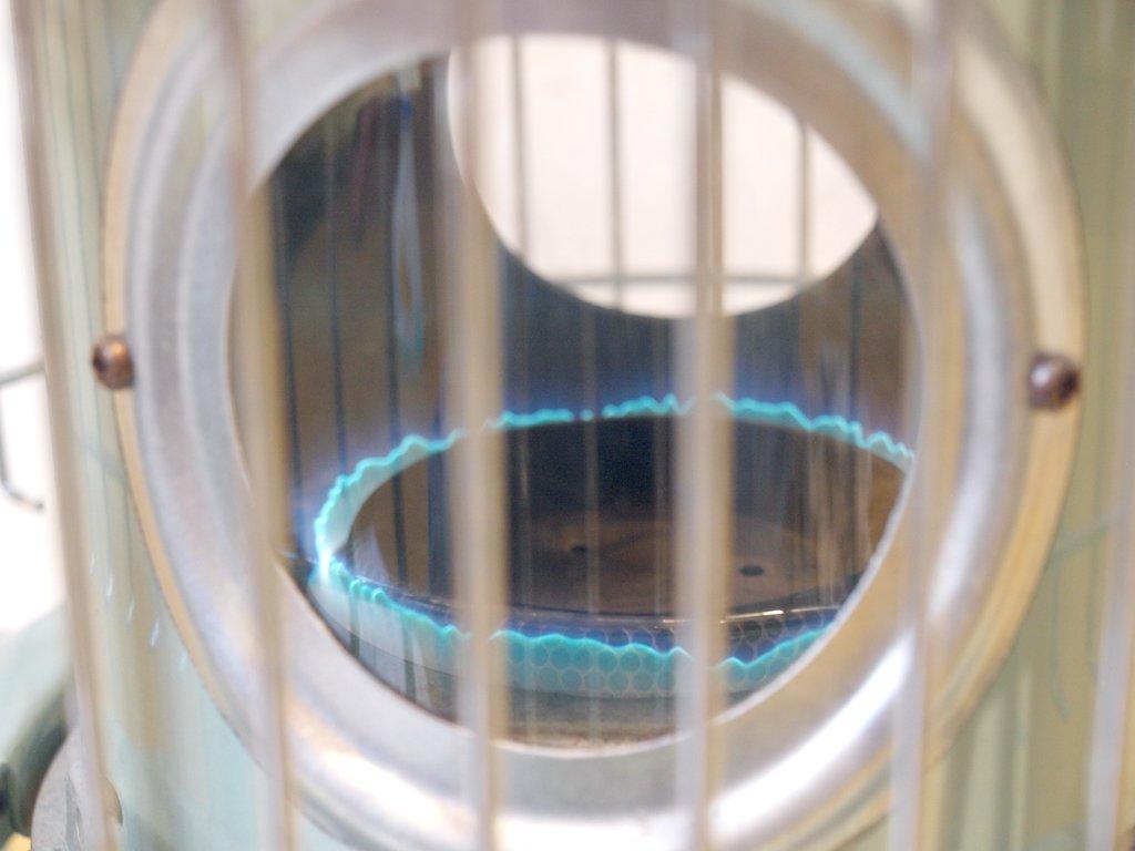 アラジン Aladdin BF3902 自然通気型開放式 石油ストーブ ブルーフレームヒーター 芯交換済 2007年製 グリーン ★