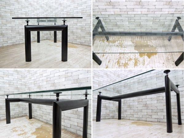 カッシーナ Cassina LC6 ダイニングテーブル クリアガラス ル・コルビジェ ●