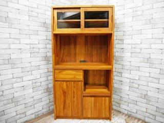 ウニコ unico ブレス BREATH チーク材 食器棚 カップボード 天然木無垢材シリーズ 廃番 ●