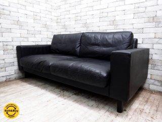 ムーア MOOR Tokyo Sofa 2.5人掛け 本革 ブラック TOKYO-1800-L 定価199,500円 ●