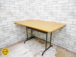 ウニコ unico ファニート FUNEAT ダイニングテーブル オーク材 鉄脚 W120cm レトロデザイン カフェスタイル ●