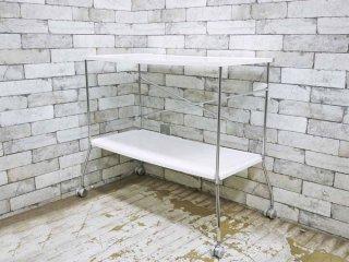 カルテル Kartell フリップ Flip 折りたたみ式 キッチンワゴン テーブル ホワイト アントニオ・チッテリオ 定価約13.2万円 ●