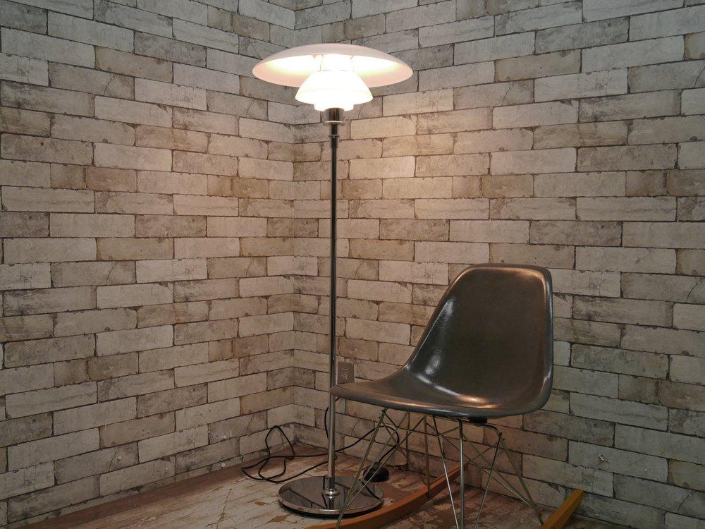 ルイスポールセン louis poulsen PH4 1/2-3 1/2 グラスフロアライト ポール・ヘニングセン 北欧照明 定価約41万円 ●