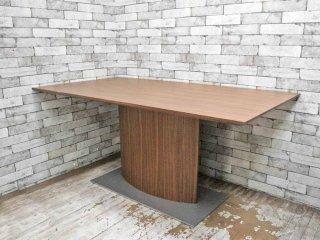 モーダエンカーサ moda en casa 現行 ピアッツァテーブル PIZZA TABLE ( ダイニングテーブル ) ウォールナット W160cm 定価¥139,700- 状態良好 ◇