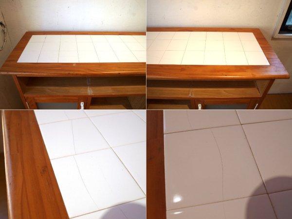 モモナチュラル Momo natural ランド LAND 対面キッチンカウンター 両面使用可 パイン材 ナチュラル色 幅120cm ★