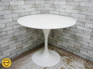 エーロ・サーリネン Eero Saarinen チューリップテーブル Tulip Table ホワイト リプロダクト品 ミッドセンチュリー ●