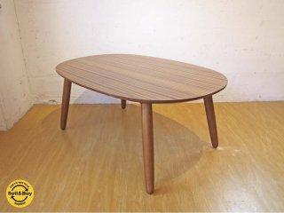 カリモク60+ Karimoku ロクマルプラス  karimoku デコラトップ メラミン天板 ローテーブル オーバル センターテーブル ★