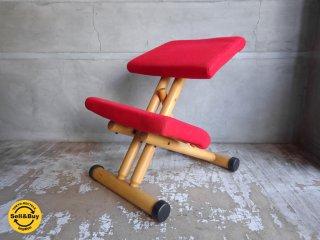 ストッケ STOKKE マルチバランス MALTI balans バランスチェア 学習椅子 レッド 北欧 ノルウェー♪