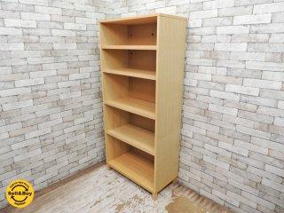 無印良品 MUJI 組み合わせて使える木製収納 本棚 シェルフ ミドルタイプ 奥行40cm タモ材 ●